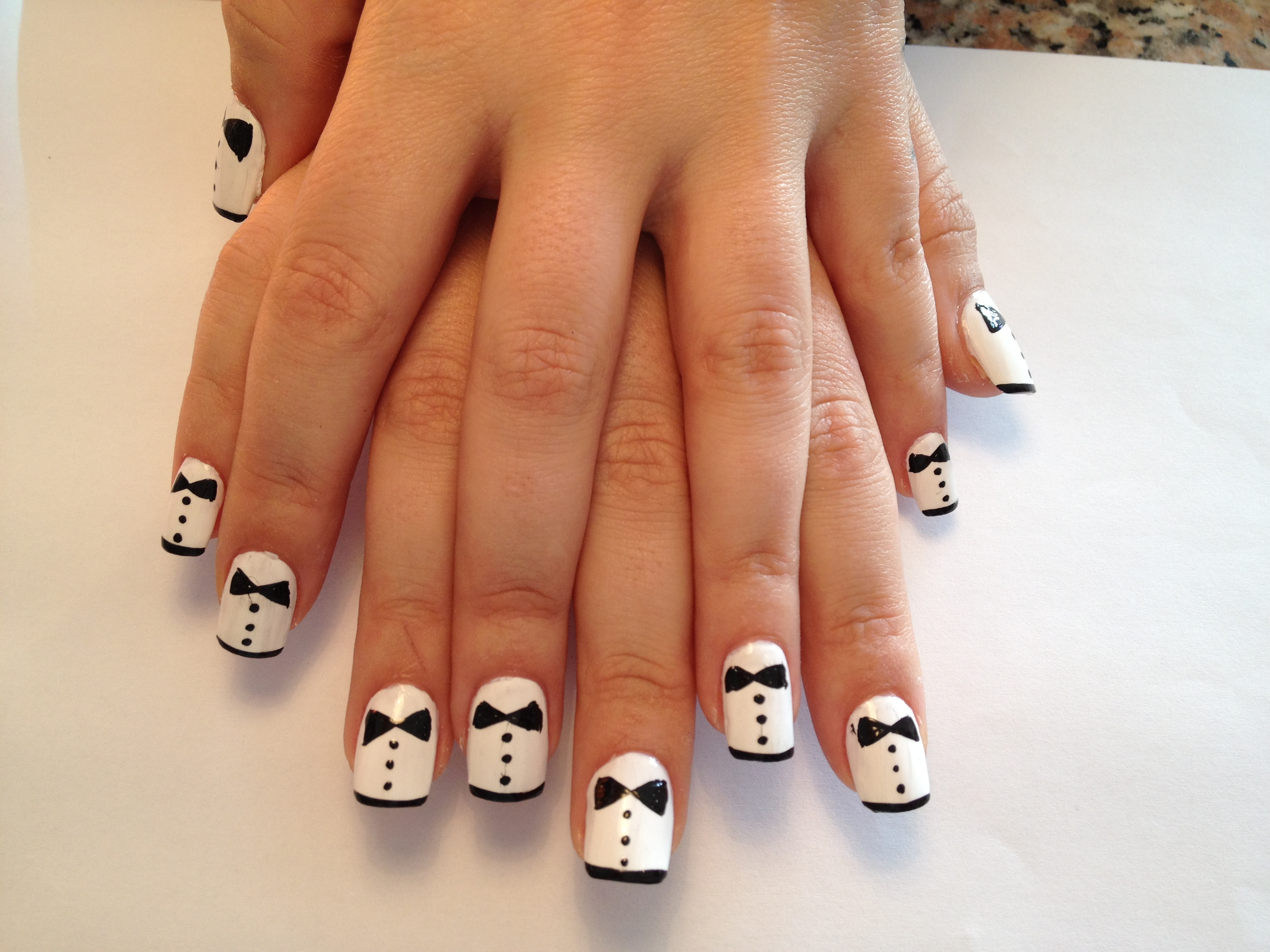Bow tie nail art designs best nails 2018 bow tie prinsesfo Choice Image